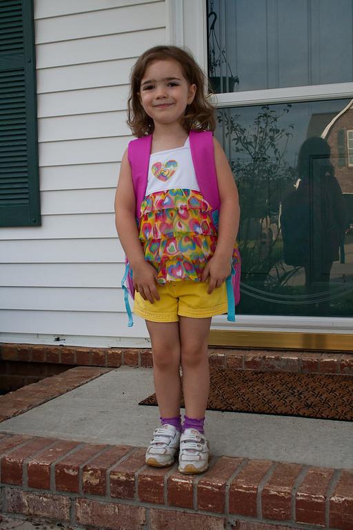 08-11-11 Nanettes First Day of Kindergarten