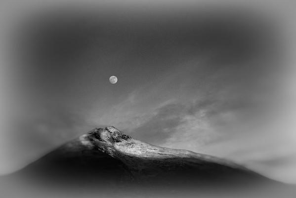 moonrise over Slievemore