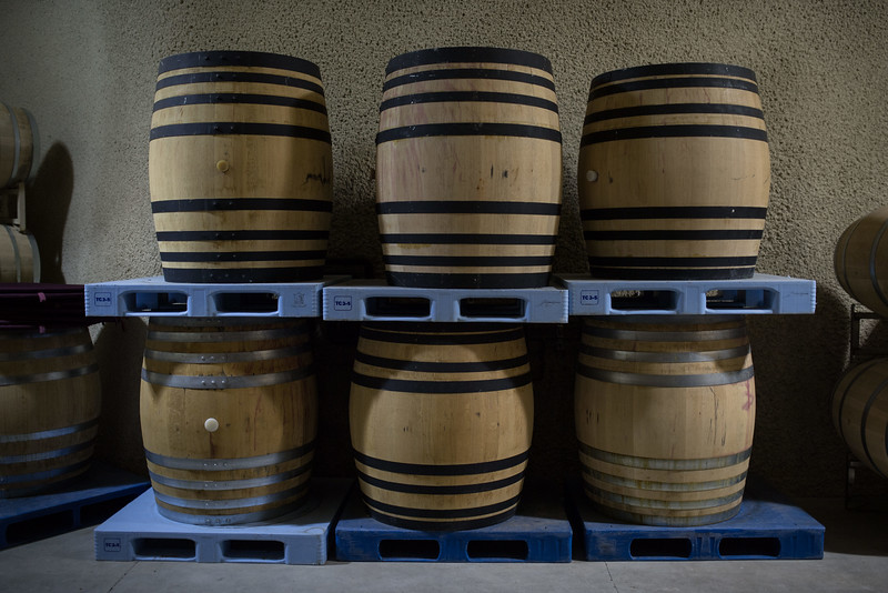 Reusable plastic pallets in a Napa Green Winery.  Photo courtesy of Napa Valley Vintners
