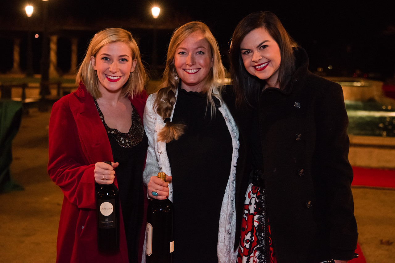 Revelers in good cheer at the 2016 Vintner Holiday Party.