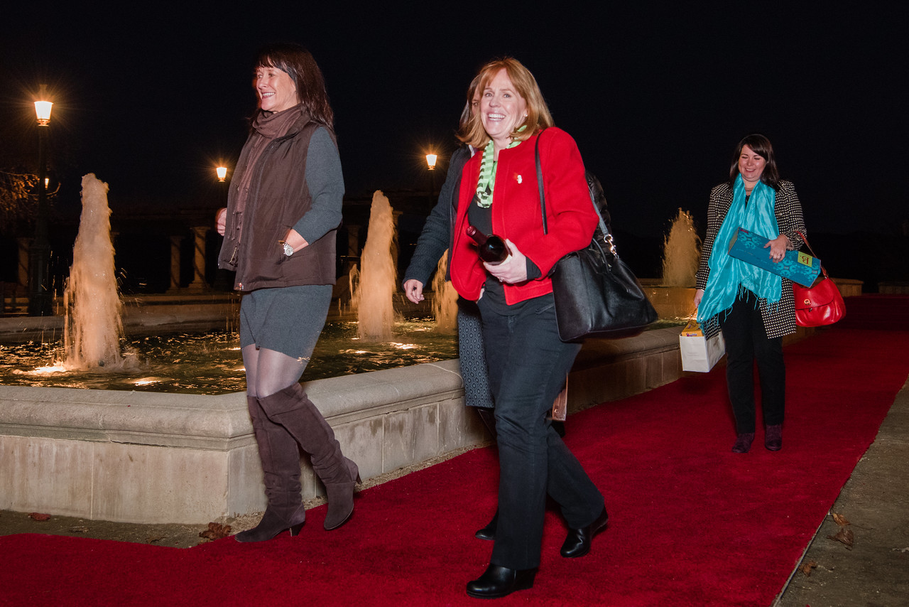 Walking the red carpet en route to the 2016 Vintner Holiday Party.