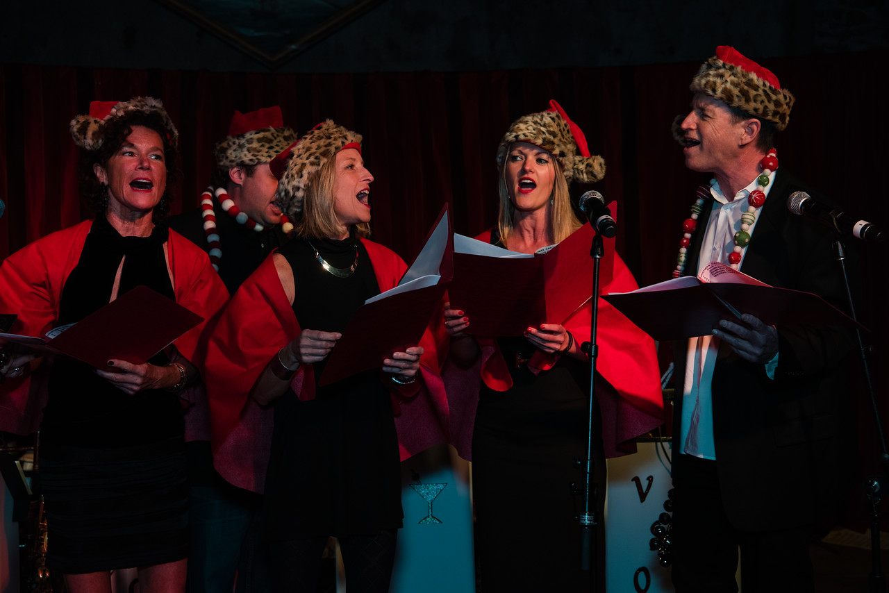 Caroling at the 2016 Vintner Holiday Party.