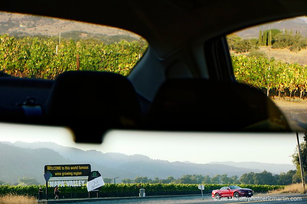 CALIFORNIE. NAPA VALLEY & SONOMA. Panneau de bienvenue à l'entrée de la région viticole de Napa Valley