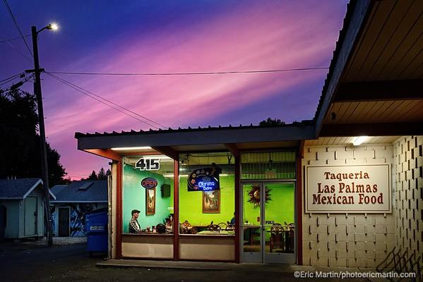 CALIFORNIE. NAPA VALLEY & SONOMA. RESTAURANT MEXICAIN DE SANTA ROSA DANS LE CONTE DE SONOMA TAQUERIA LAS PALMAS