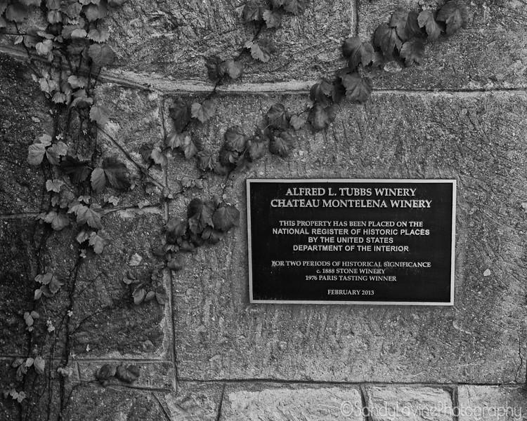 Plaque, Chateau Montelena