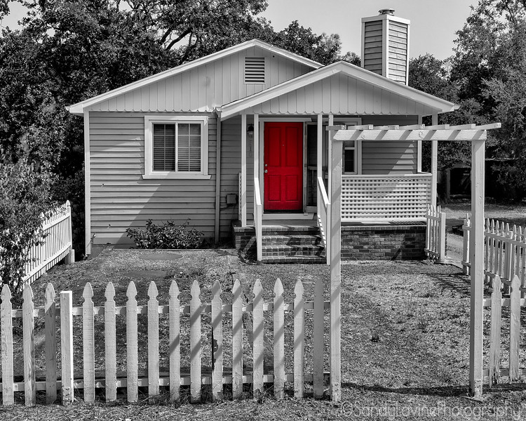 House with Red Door
