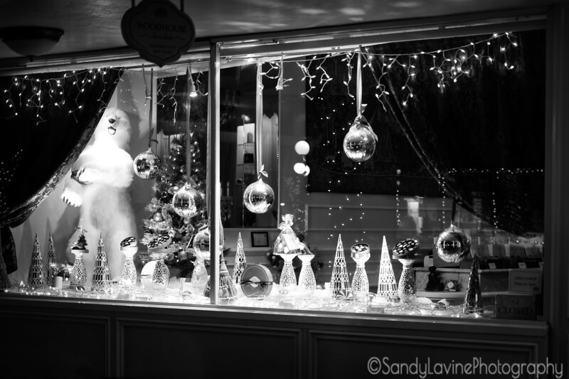 Christmas Shop at Night