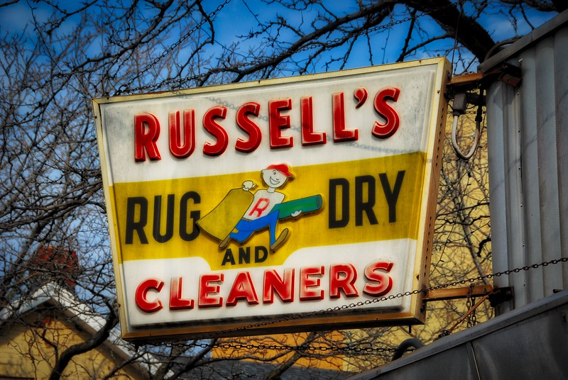 Russell's Cleaners - 41 W. Jefferson Avenue - Naperville, Illinois - Photo Taken: April 18, 2009