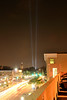 Beams of Light from the 9/11 Memorial - Chicago Avenue - Naperville, Illinois - Photo Taken: September 10, 2011