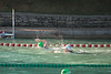 Cheri, in green cap doing the freestyle swim.