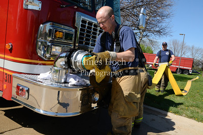 Naperville Fire Department - Station 3 - Fire Hose Testing - 03-28-2012