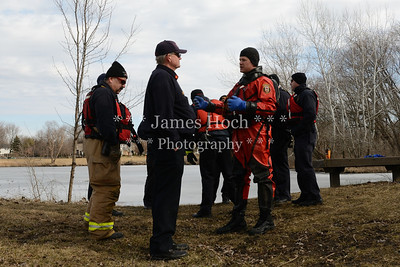 Naperville Fire Department - Ice Rescue Training - 02/17/2012