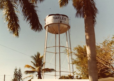 water tower under demo