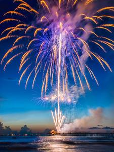 Gorgeous Fireworks Over Naples Pier