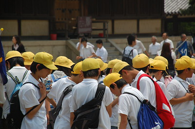 "This seemed to be a popular season for school excursions (""Shugaku ryoko""), which is unique to the Japanese education system."