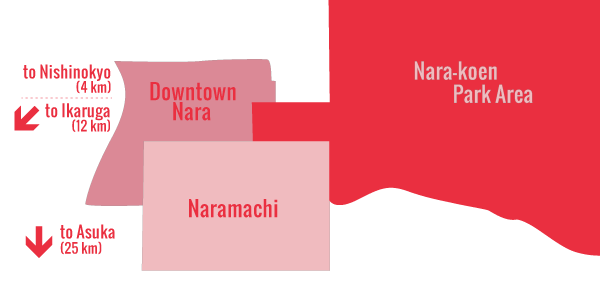 Nara Districts Map