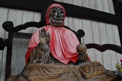Binzuru - ailments are cured if the patient touches the statue with one hand and the affected part with the other