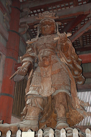 Koumokuten – one of the four Celestial Guardians – in Daibutsuden