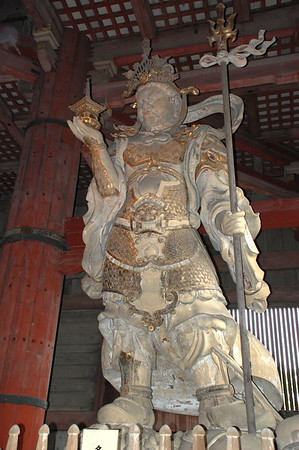 Tamonten – one of the four Celestial Guardians – in Daibutsuden