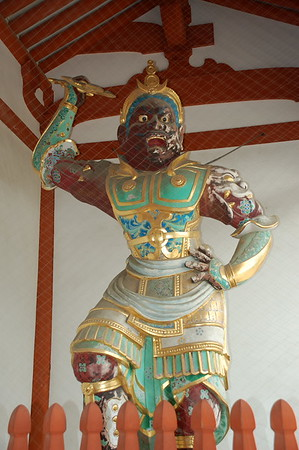 Agyo, one of the Nio protectors in Yakushiji Temple