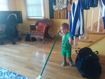 sweeping the floor in Rockport, MA