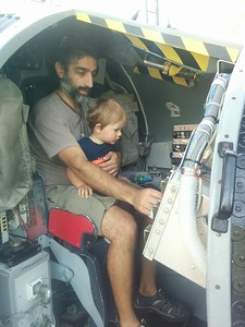 Narayan and Nikhil in the space capsule