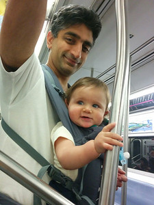 Just riding the subway in New York...
