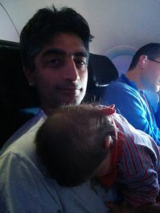 Sleepy plane ride