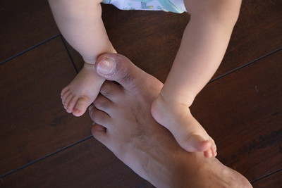 2 generations of feet