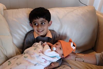 Amar loves holding Narnar