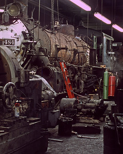 August 2001.  The 484 had derailed in the snow in the Spring of 1999 and over two years later she was still a work in progress.