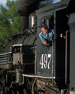 Dan Ranger had been General Manger of the C&TS during some of the Kyle years, and come back in 2001.  When things in the office got too crazy his therapy was to go out in the yard and spend some time shoveling coal into the firebox on whatever engine was hot.