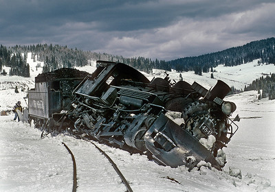 April 1999.  Just west of the Los Pinos tank 484 hit a patch of ice.