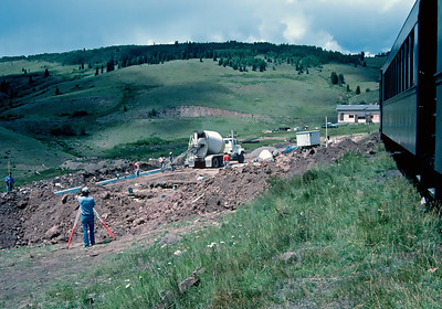 When we got to Osier I was surprised to see the new dining hall under construction.  August 1988.