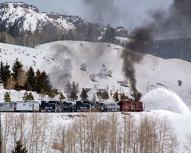 February 29, 2020.  The plow train approaches Dalton crossing.