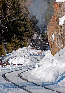 February 14, 2010.  Russ Sperry entitled this Narrow Gauge Slalom.