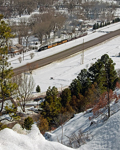 A Valentines Day special approaches Trimble Road running through a very wintery Animas Valley on its way to Cascade on the day before Valentines Day 2010.