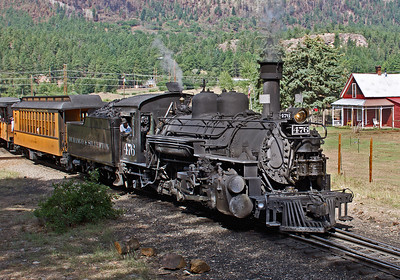 August 24, 2018.  The second train to Silverton pulls on of the Rockwood siding.  .