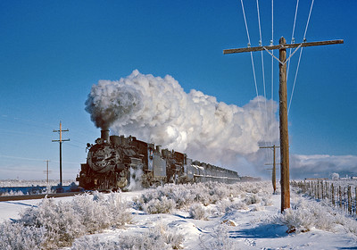 December 18, 1961.  On the three rail between Alamosa and Antonito.
