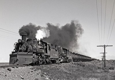 September 1964,  On the three rail between Alamos and Antonito.