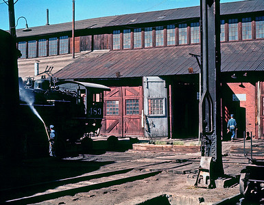 Alamosa, September 1960.  The Alamosa backshop dated from the 1880's but continued to overhaul steam locomotives until 1968.