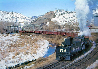 January 1960.  The 478 switches the line that crosses the Animas River and was at one time the RGS access to Durango.  It was owned by the DRGW and after the RGS abandoned was used for car storage.