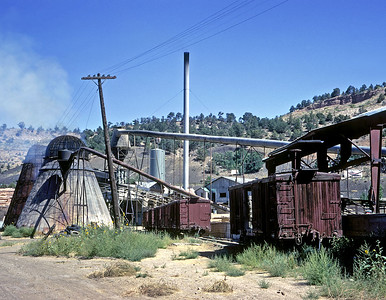 September 1967. The  Weidman Sawmill in Durango was one of the last regular shippers on the narrow gauge.