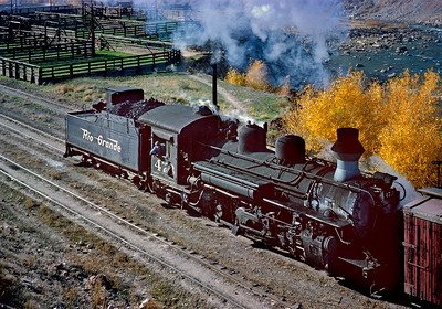 October 1962.  The 473 switches the east end of the Durango yard, where the stock pens were located.