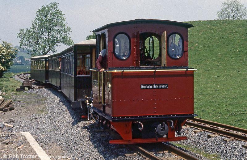 Brecon Mountain Railway Arn Jung 0-6-2WTT 'Graf Schwerin-Löwitz' arrives at Pant.