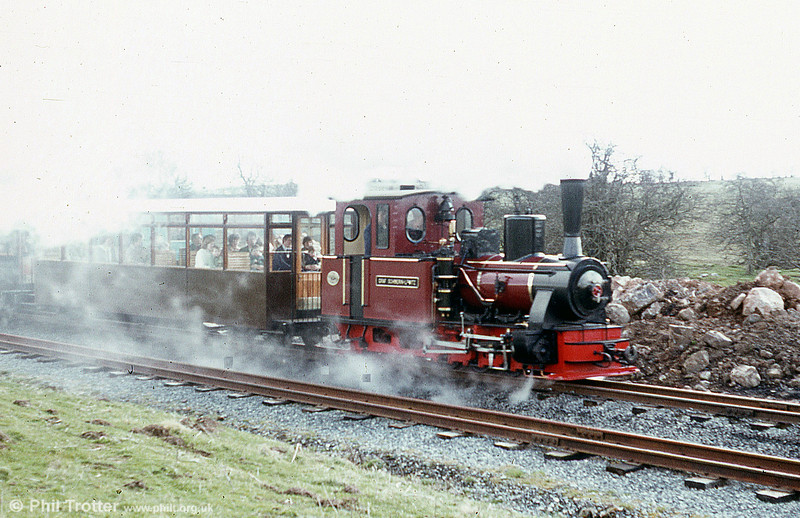 Brecon Mountain Railway Arn Jung 0-6-2WTT 'Graf Schwerin-Löwitz' departs from Pant.
