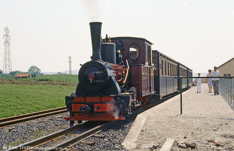 Brecon Mountain Railway Arn Jung 0-6-2WTT 'Graf Schwerin-Löwitz' at Pant.