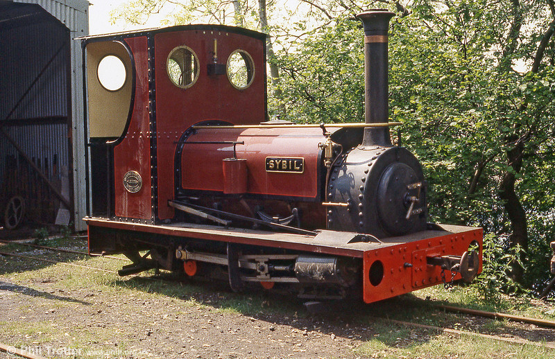 The Brecon Mountain Railway's first operational steam locomotive was Hunslet 0-4-0ST (827/1903) 'Sybil', seen here resting at Pontsticill.