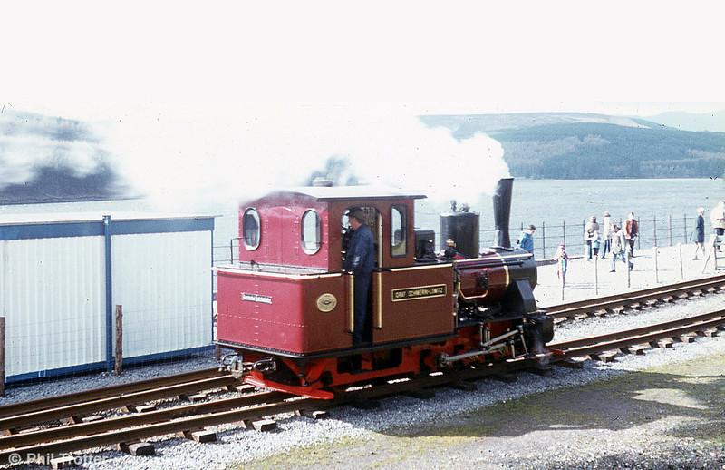 BMR Arn Jung 0-6-2WTT 'Graf Schwerin-Löwitz' runs around its train at Pontsticill.