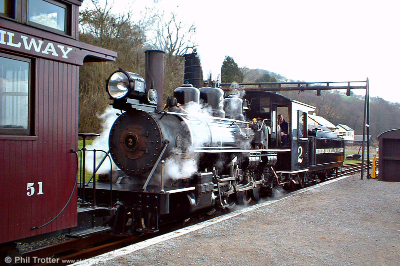 The 47-ton Baldwin Pacific on the BMR at Pontsticill. The loco was built in Philadelphia, USA and worked in South Africa before being wrecked in an accident in 1974. It was rebuilt at the BMR.